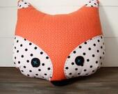 Fox Pillow - Polka Dots
