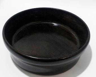 Black Wood  Bowl, Dyed wood,  Lathe Turned Wood Bowl , Housewares, Kitchen, Home Decor Art