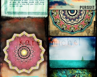 INSTANT DOWNLOAD - Art Journal Digital Collage Sheet - Dreamscape