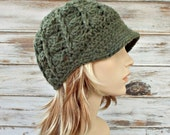 Crochet Hat Womens Hat Green Newsboy Hat - Pippa Swirl Crochet Newsboy Hat in Willow Green Crochet Hat - Green Hat Womens Accessories