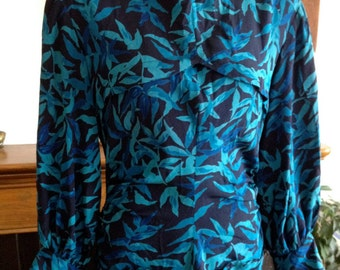 1930s Bianchini's Rayon Print Dress