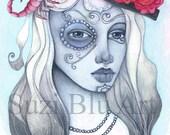 Scorpio Astrology Print of Sun Sign Zodiac Girl by Suzi Blu