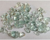 Brand New Aqua Glass Chip Beads - Fifty (50) Beads - Ocean and Sea Colored - Jean Skipper