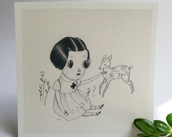 Well Wisher mini print - archival giclee