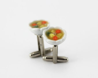 Vegetable Soup Cufflinks