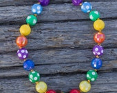 SIMPLE.beads Rainbow Dot bubble gum bead necklace