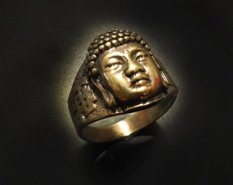 Buddha Ring in Sterling Silver