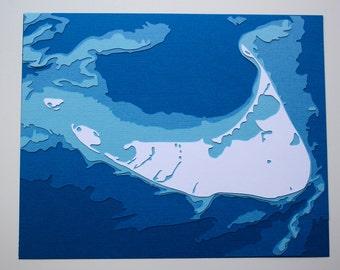 Nantucket - original 8 x 10 papercut art
