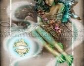 Art Retirement SALE / Pisces / ZODAIC /  Fairy / Fantasy Art / Fairy Art / 8x10 Art Print