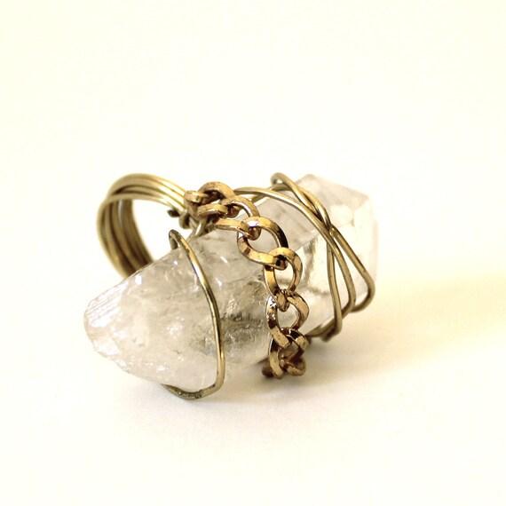 Ring that Rocks Bound Crystal size 4