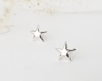Star earrings, Tiny star 925 Sterling Silver stud, Cartilage piercing, minimalist, Men Guys earrings, Friendship earrings, Unisex gift- es01
