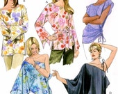 Boho casual tops pattern loose fitting pullover tops sewing pattern McCalls 4516 XSm to Medium Uncut Summer tops pattern