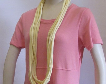 Yellow Jersey Infinity Scarf Handmade by Fashion Green T Bags