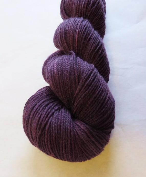 Opulence Sock Superwash Merino Cashmere Fingering Yarn Handpainted Color: Plum