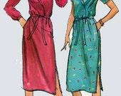 1970s Mock Wrap Dress with Side Slit Butterick 3166 American Hustle Style Vintage 70s Sewing Pattern Size 12-16 Bust 34-38 UNCUT