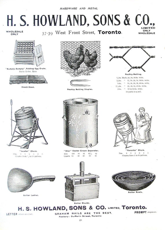 1904 Antique Hardware Ad - Farm Tools from Canada - Hardware and Metal Catalog