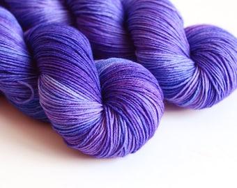 Jupiter - Hand Dyed Yarn - Sock Yarn - Fingering Weight - Royal Blue and Purple - Greek Mythology
