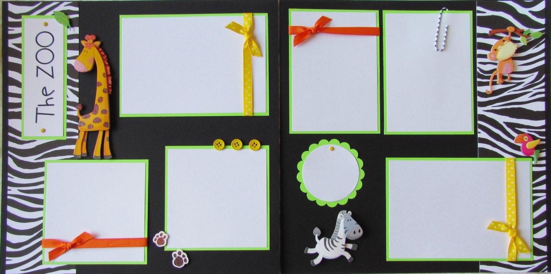 Zoo animal scrapbook ideas -  15 00