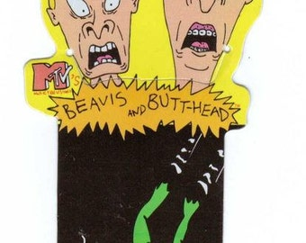 Beavis and Butt-Head Bookmark Vintage 90's school supplies MTV Scream Toad