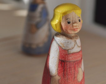 Wooden Peg Doll -- Hand-carved by Fairiemoon