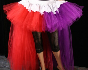 Ready to Ship Nurse Squad Harley Quinn Adult tutu skirt Cosplay Hi low bustle trail off beat bridal dance costume Small Sisters of the Moon