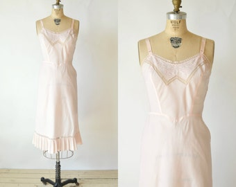 SALE /// 1950s Barbizon Full Slip --- Vintage Pink Lingerie