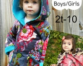 Hooded Jacket Boys Girls Whimsy Couture Sewing Pattern Tutorial PDF ebook (reversible) 2t - 10 Instant
