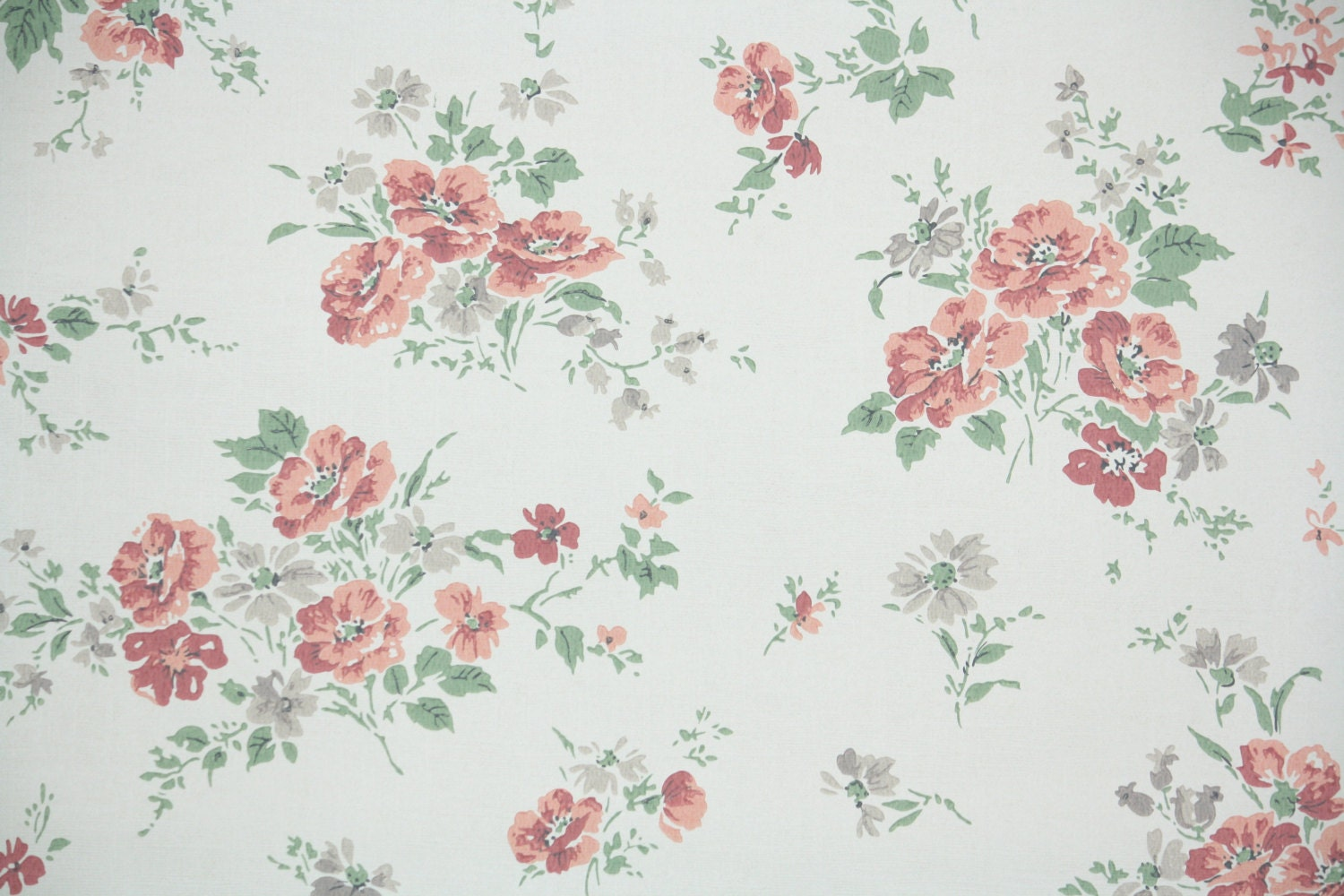 1950s vintage wallpaper by the yard floral vintage wallpaper for Tumblr tapete