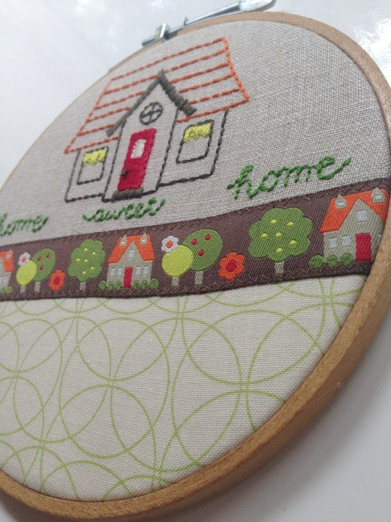 Home sweet embroidered hoop art sublime stitching