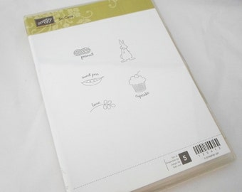Stampin' Up Retired Stamp Set -  So Cute Clear Mount Stamps - Baby Stamps, Scrapbooking, Card Making - Clear Mount Rubber Stamps