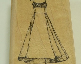 Popular items for dress on hanger on etsy for Wedding dress rubber stamp