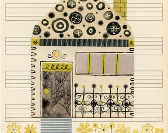Envelope House #2 Print 8.5 x 11