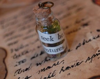 Narnian Quote Bottle Pendants