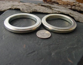 Jewelry Supplies Bezels. Extra Large Hoops / Rings. Steampunk Art Craft Supply Recycled Aluminum Computer Parts. 2 in. RC-21