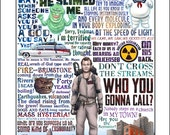 Who You Gonna Call- Ghostbusters tribute signed print