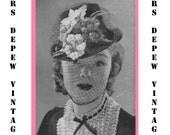 "Vintage Crochet Pattern 1930's Gimp Hat Pattern ""The Salem"" -INSTANT DOWNLOAD-"