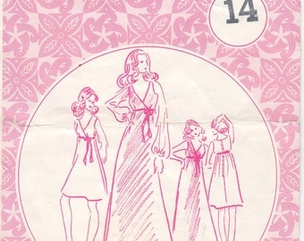 Vintage Sewing Pattern Patterns Pacifica 3025  Maxi Dress Mod Size 36 Bust