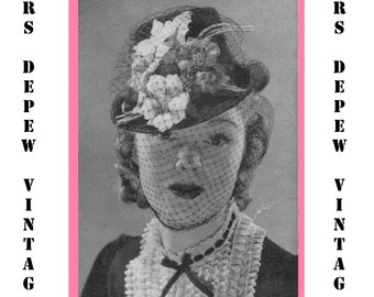 "Vintage Crochet Pattern 1930's Gimp Hat Pattern ""The Salem"" -INSTANT DOWNLOAD-"
