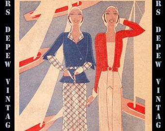 Vintage Pattern Catalog Booklet McCall Style News July 1931 PDF Digital Copy -INSTANT DOWNLOAD-