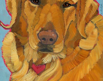 Golden Retriever No. 3 - magnets, coasters and art prints