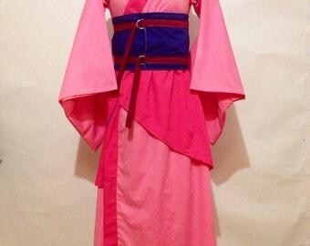 Mulan Inspired Kimono Dress in Pink