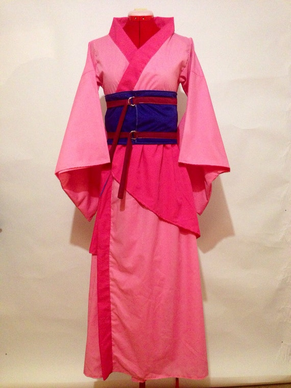 Mulan Inspired Kimono Dress in Pink