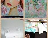 STENCIL Original face stencil Fae Face - use in your mixed media work - reusable Art Stencil
