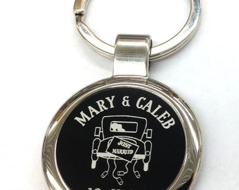 Wedding Favors Personalized Laser Engraved Key Chains Just Married