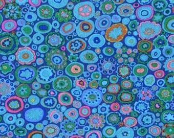 Kaffe Fassett Paperweight Teal Circles Fabric 1 yard