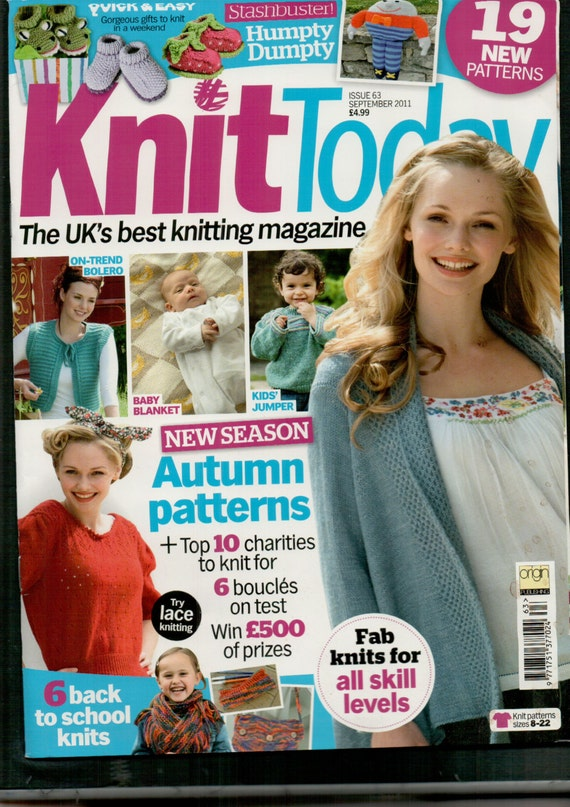 Knit Today Knitting Magazine Issue 63 September 2011