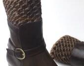 Teens Boot Cuffs Reversible Boot Topper