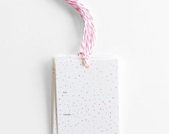 SALE!! Pink Dot Gift Tags