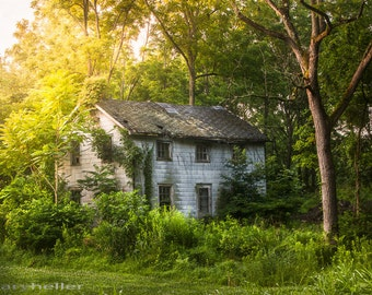 Fading Memory One Summer Morning, Old house in the Woods, Nature, Abandoned, Rural, Rustic, Wall Decor, Cottage Chic, Fine Art Print, signed