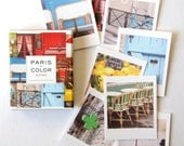 SALE! Paris in Color Note Card Set, Paris Greeting Cards Set, Blank Note cards, Hostess Gifts